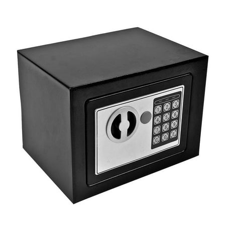 Waterproof And Fireproof Safe Box With Key For Home Office Hotel Security Keypad
