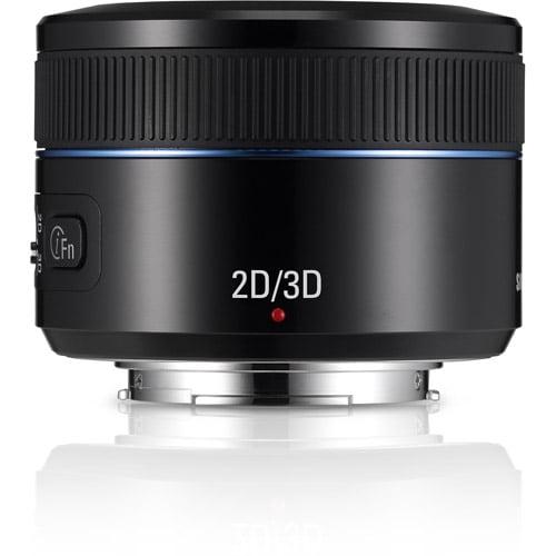 Samsung 45mm F1.8 2D/3D NX Lens For All NX Models, Black
