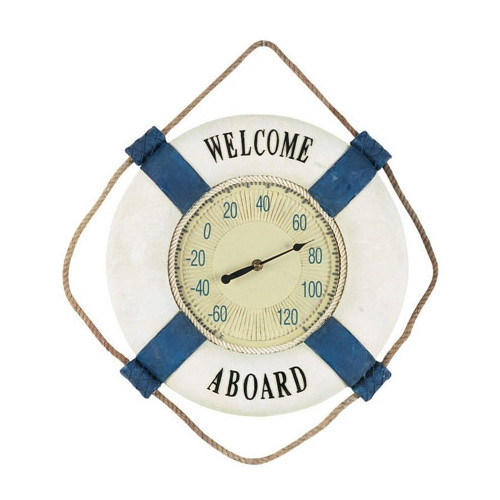 RAM Game Room ''Welcome Aboard'' Outdoor Thermometer
