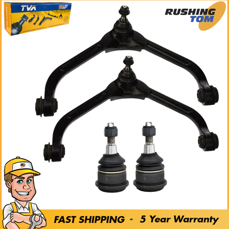 2 Upper Control Arms & 2 Lower Ball Joints For 2004-2002 Jeep Liberty Base Sport