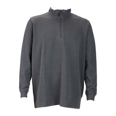 Mens 1 4 Zip Flat Back Rib Pullover  Color  Heather