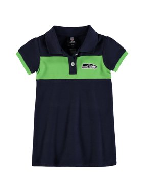 Product Image Seattle Seahawks Girls Toddler Halftime Dress - College  Navy Neon Green 7a1f0e05a