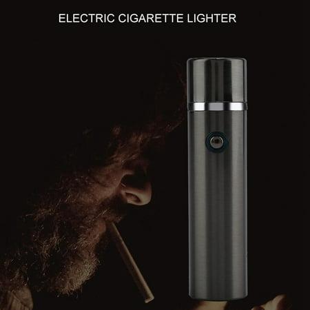 Skull Black Matte Lighter - HURRISE Rechargeable Arc Lighter Windproof Flameless Electric USB Cigarette Lighters, USB Lighter, Electric Cigarette Lighter
