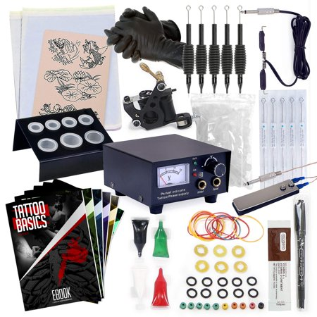 Ny Ink Halloween Tree Tattoo (Rehab Ink Complete Tattoo Kit w/ Machine, Power Supply, Needles, 4 Inks &)