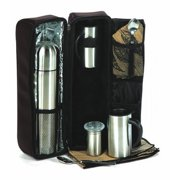 Picnic Plus Cafe Chalet Travel Mug and Thermos Coffee Set
