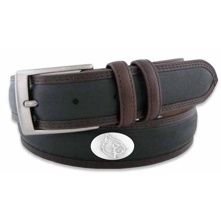 Louisville Concho Two Tone Leather Belt