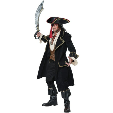 Deluxe Pirate Captain Adult Costume (Mens Pirate Costume)