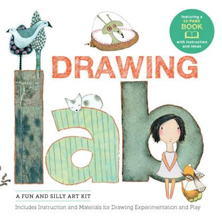 Drawing Lab Kit : A Fun and Silly Art Kit, Includes Instructions and Materials for Drawing Experimentation and Play Burst: Featuring a 32-Page Book with Instructions and Ideas