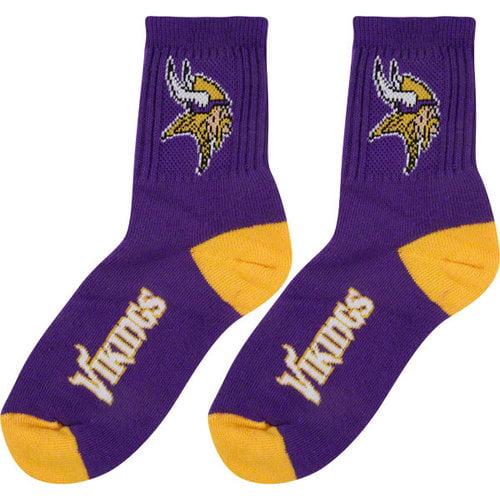 NFL - Minnesota Vikings Team Color Quarter Socks