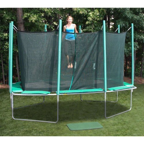 Kidwise Magic Circle Rectangle 9 x 14 ft. Trampoline with Enclosure