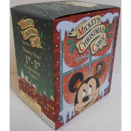 Mickey's Christmas Carol One UNOPENED BOX 3'' Figure Cute, Mickey's Christmas Carol By Disney Vinylmation