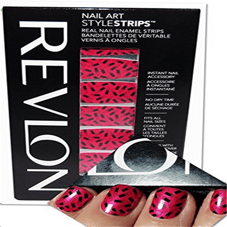Pack of 2- Revlon Nail Art Style Strips- Lips & Tips (Halloween Style Nails)