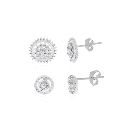Diamond Accent Round Earring