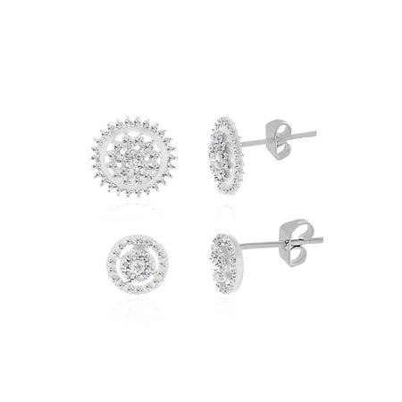 Diamond Accent Round Earring Set ()