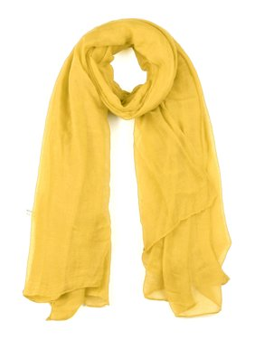 Long Lightweight Large Solid Color Scarf for Women Men