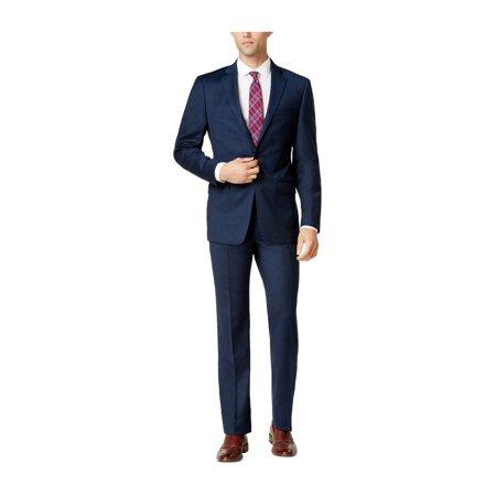 Calvin Klein Mens Flannel Two Button Suit