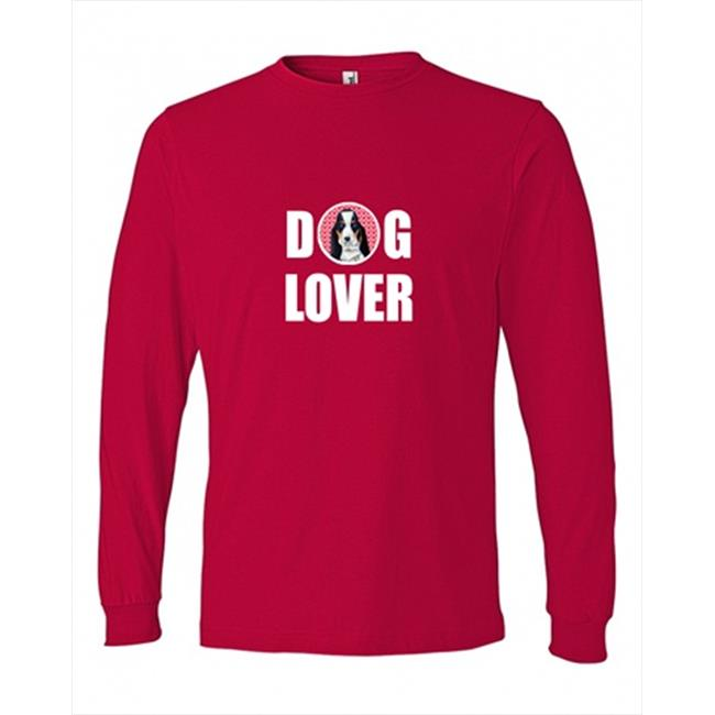 Carolines Treasures LH9149LS-REDU-S Basset Hound Love and Hearts Long Sleeve Red Unisex Adult Small - image 1 de 1