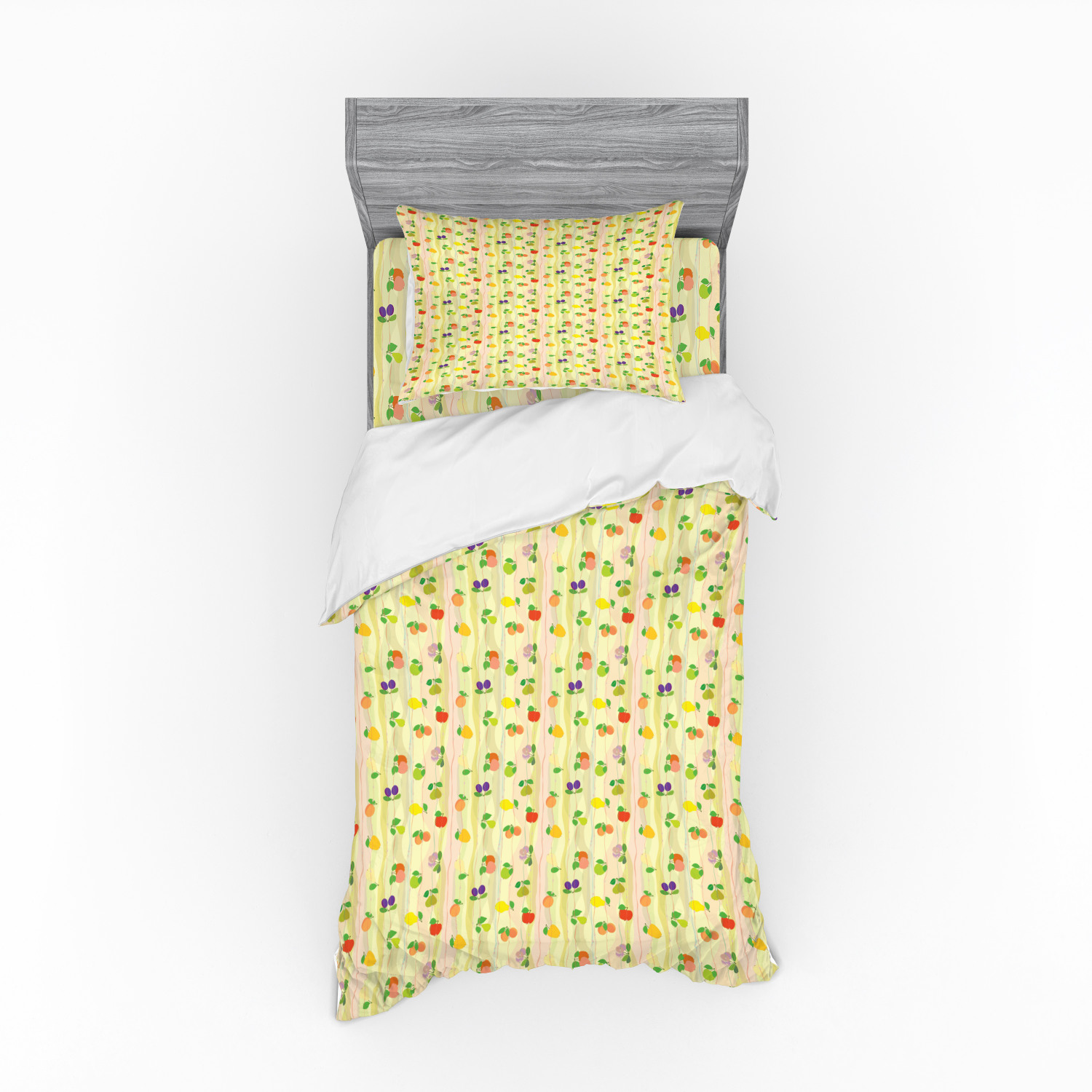 fruit duvet cover set apple plum pear apricot peach pattern on abstract geometric waves background print bedding set with shams and fitted sheet 3 sizes by ambesonne walmart com fruit duvet cover set apple plum pear apricot peach pattern on abstract geometric waves background print bedding set with shams and fitted sheet 3