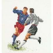 Thea Gouverneur Linen Counted Cross-Stitch Kit, Soccer