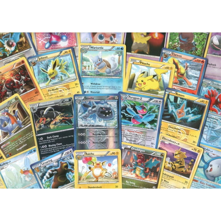 100 Assorted Pokemon Trading Cards with 7 Bonus Free Holo