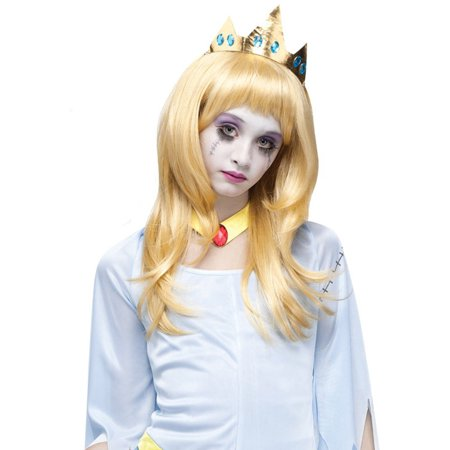 Adult Sleeping Beauty Costume (Adult And Teen Blonde Sleeping Beauty Once Upon A Zombie Wig Costume)