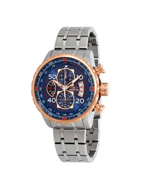 Invicta Men's 17203 Aviator Blue Dial Stainless Steel Bracelet Chronograph Watch