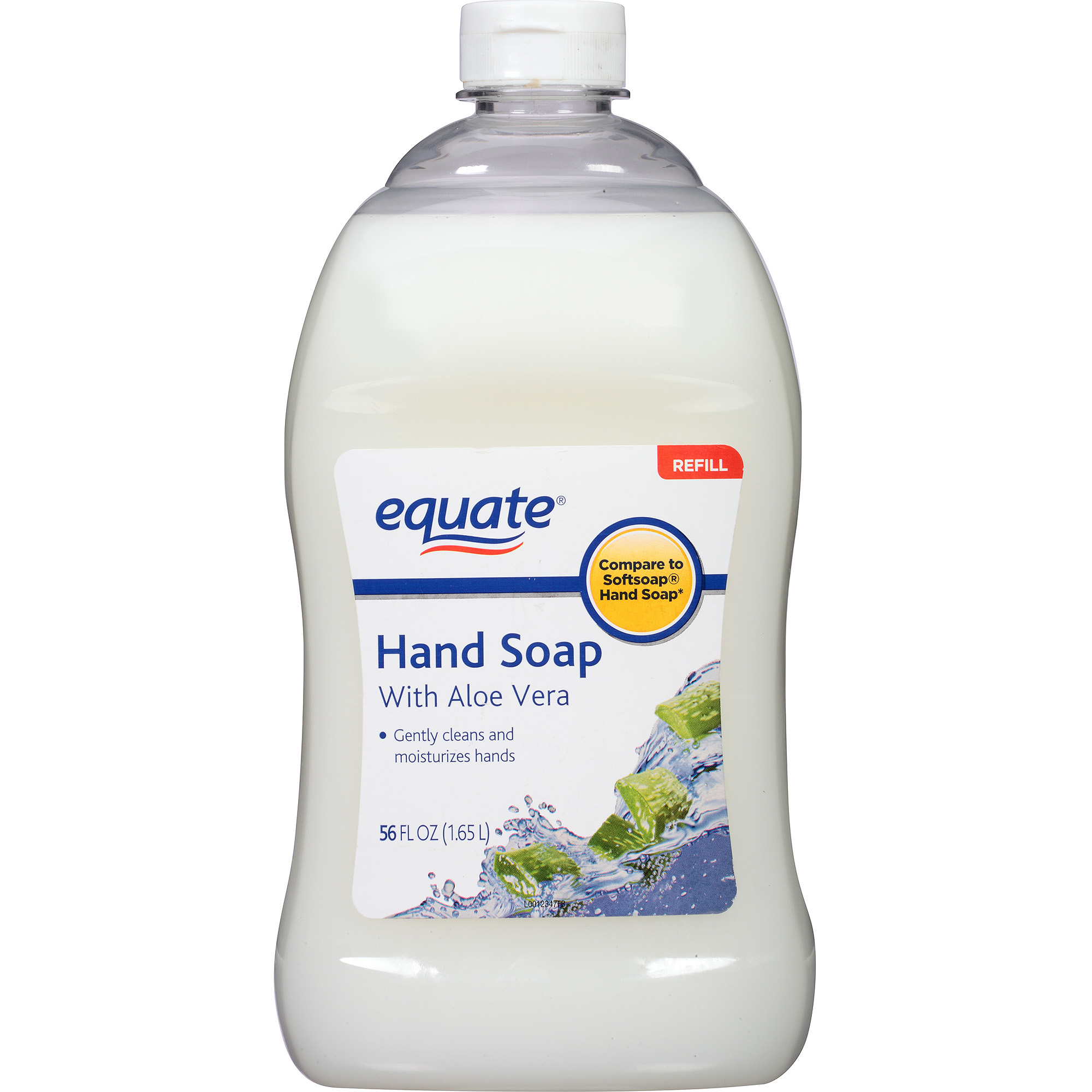 Equate Liquid Hand Soap with Aloe Vera Refill, 56 fl oz