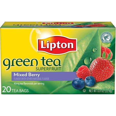 Mixed berry green tea