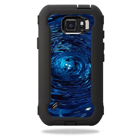 MightySkins Protective Vinyl Skin Decal for OtterBox Defender Galaxy S6 Active Case wrap cover sticker skins Blue Vortex