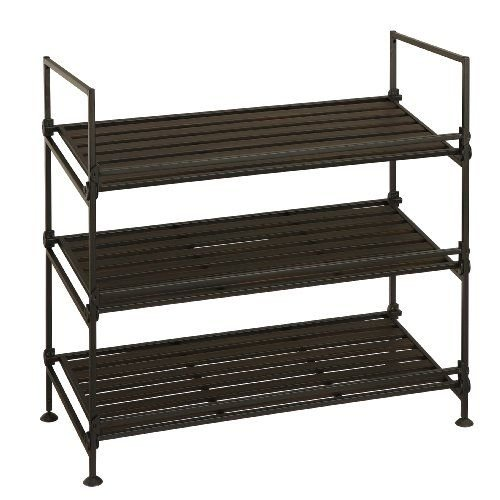 Organize It All Ebonize 3-Tier Shoe Rack