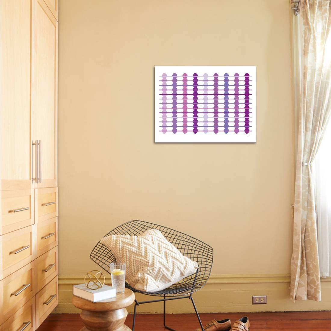 Purple Design, no. 45 Stretched Canvas Print Wall Art By Avalisa ...