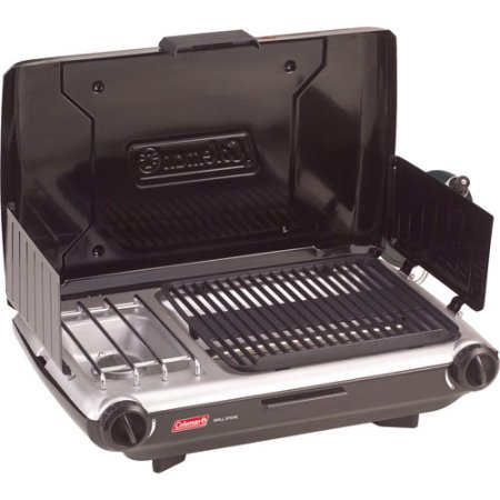 Coleman PerfectFlow 10,000 BTU 2 Burner Grill Camp Stove Match Light