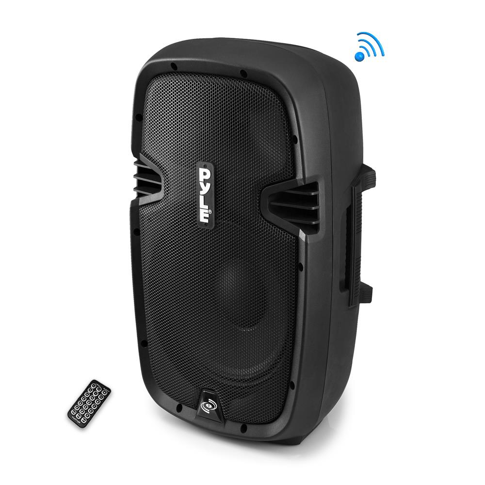 Pyle PPHP1237UB - Bluetooth Loudspeaker PA Cabinet Speaker System, Powered 2-Way Full Range Sound, Recording Ability, USB/SD, AM/FM Radio, Aux Input, 12-Inch, 900 Watt