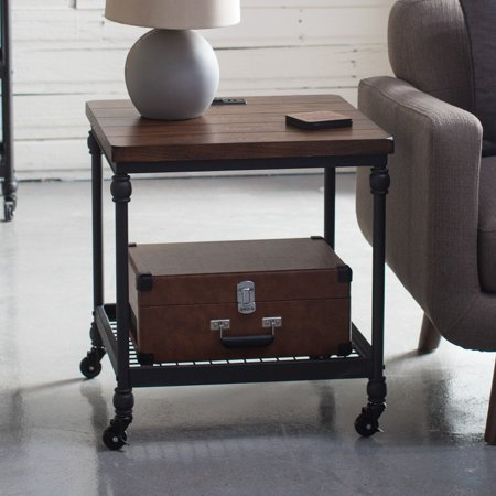 Nuts Poker Table - Belham Living Archer Industrial End Table with Power Outlet