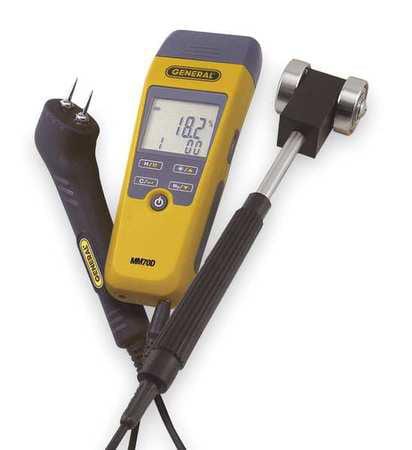 GENERAL MM70D-7022KIT Digital Moisture Meter Kit, Roller Probe by General