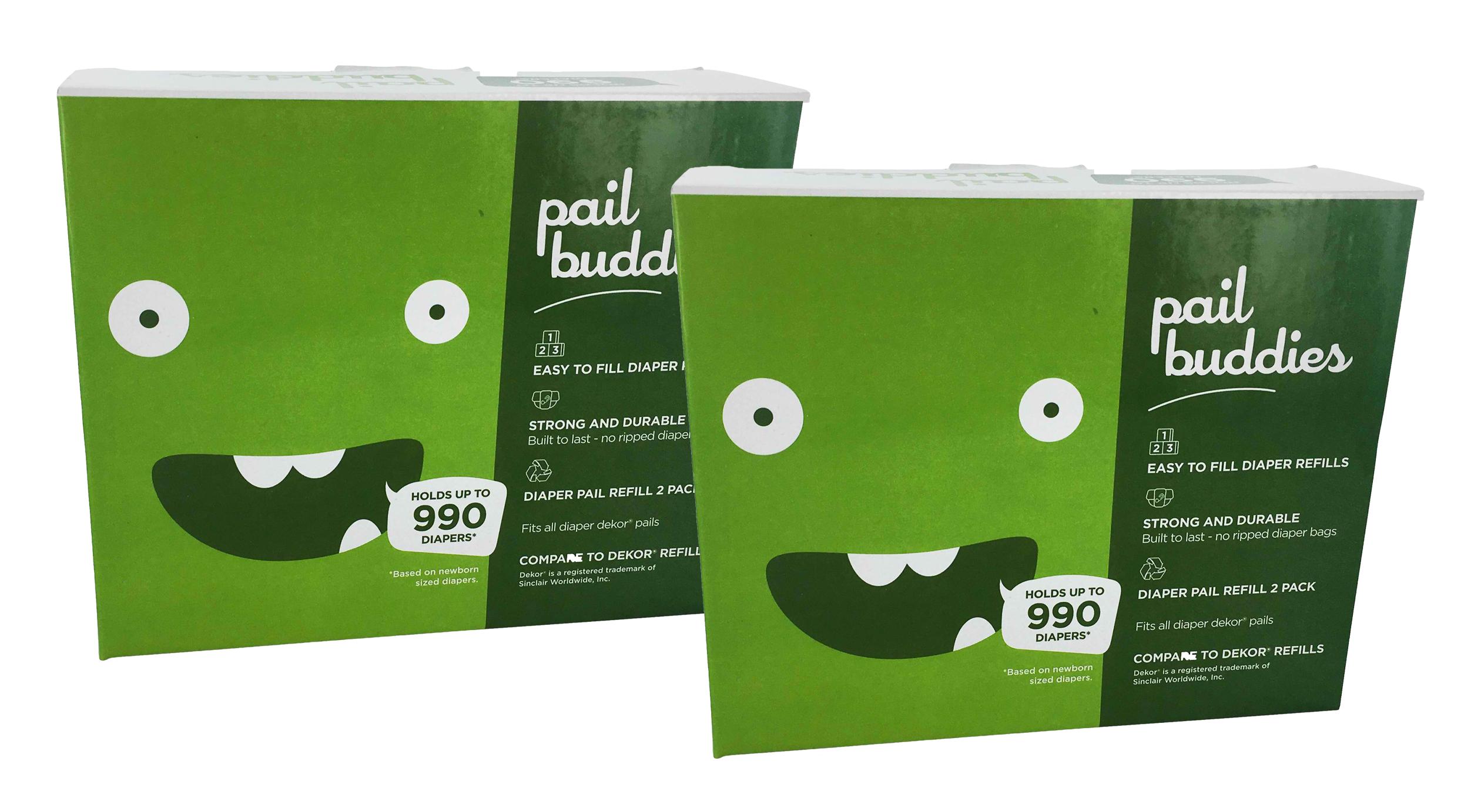 6 Pack Pail Buddies Diaper Pail Refills For Diaper Dekor Classic Diaper Pails Each Refill Can Hold Up to 990 Diapers Fits All Diaper Dekor Classic Diaper Pails