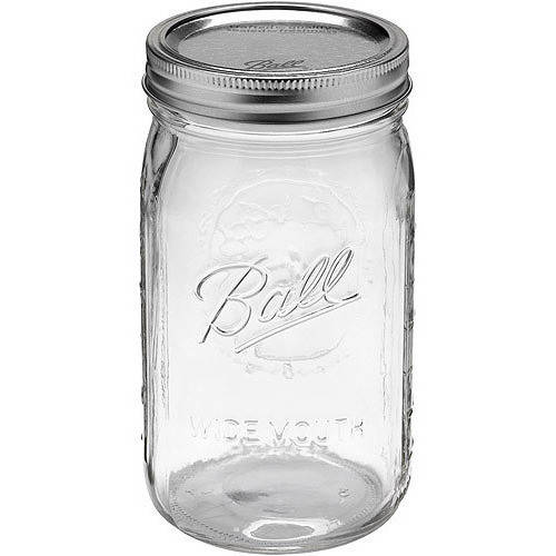 Ball 24-Count Wide Mouth Quart Jars with Lids and Bands