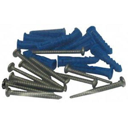 Triton Products  12 Steel Screws and 12 Plastic Wall Anchors for Mounting Steel Pegboard System LB1-W  LB2-W and LB18-W