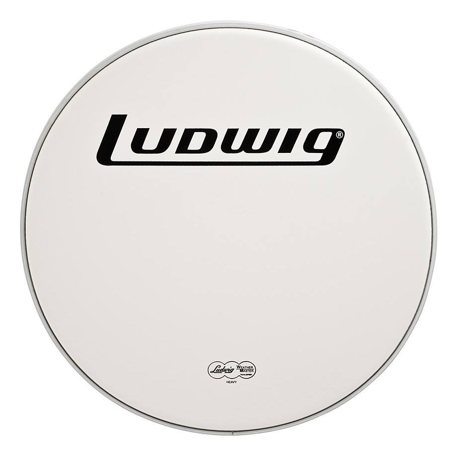Ludwig 18 Inch Heavy Coated Bass Drum Head w Logo by Ludwig Drums