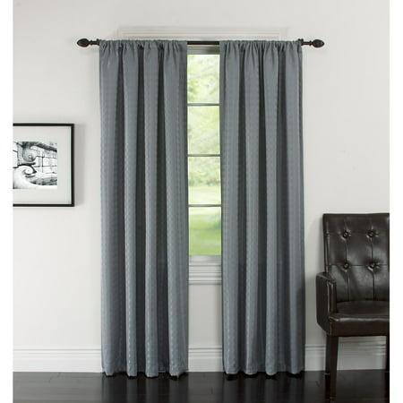 Arlee Home Fashions Lynette Blackout Grommet Curtain Panel Pair ...