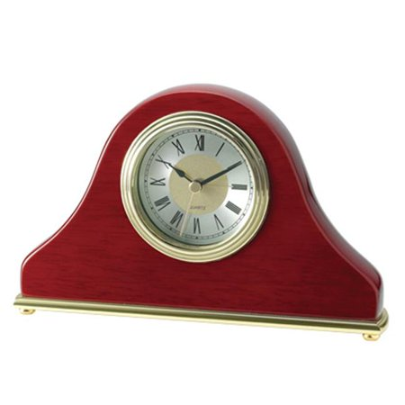 - 7.75 in. Rosewood Desktop Analog Clock