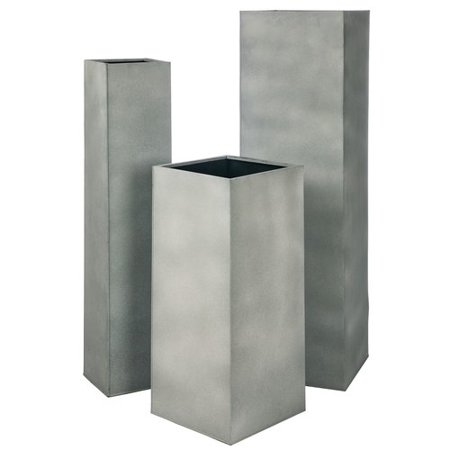 Church Planters - 17 Stories Church Large Pedestal Metal 3 Piece Pot Planter Set