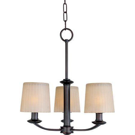 "Maxim 21504 Finesse 18"" Wide 3 Light Chandelier"