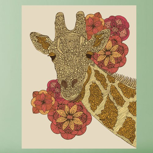 My Wonderful Walls Floral Giraffe Animal by Valentina Harper Wall Decal