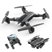 DEERC Foldable GPS Drone with 1080P Camera Quadcopter Drone for Biginners and Adults Follow Me Auto Return to Home Gesture Photos Video