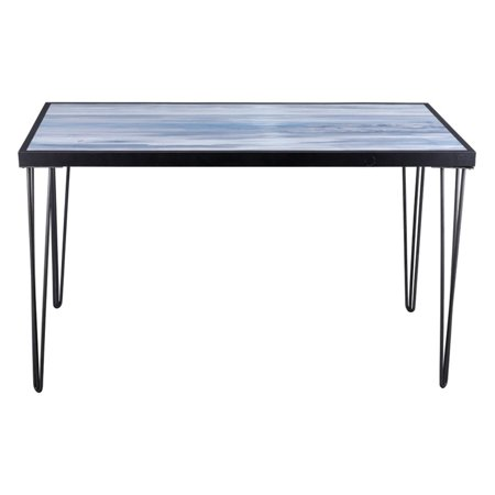ArtMaison Canada Light Gray Console Table with Sea Side Artwork Top (Tablet Canada)