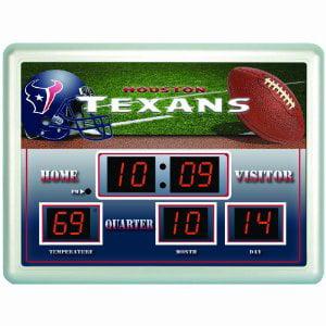 Houston Texans Logo Scoreboard Wall Clock