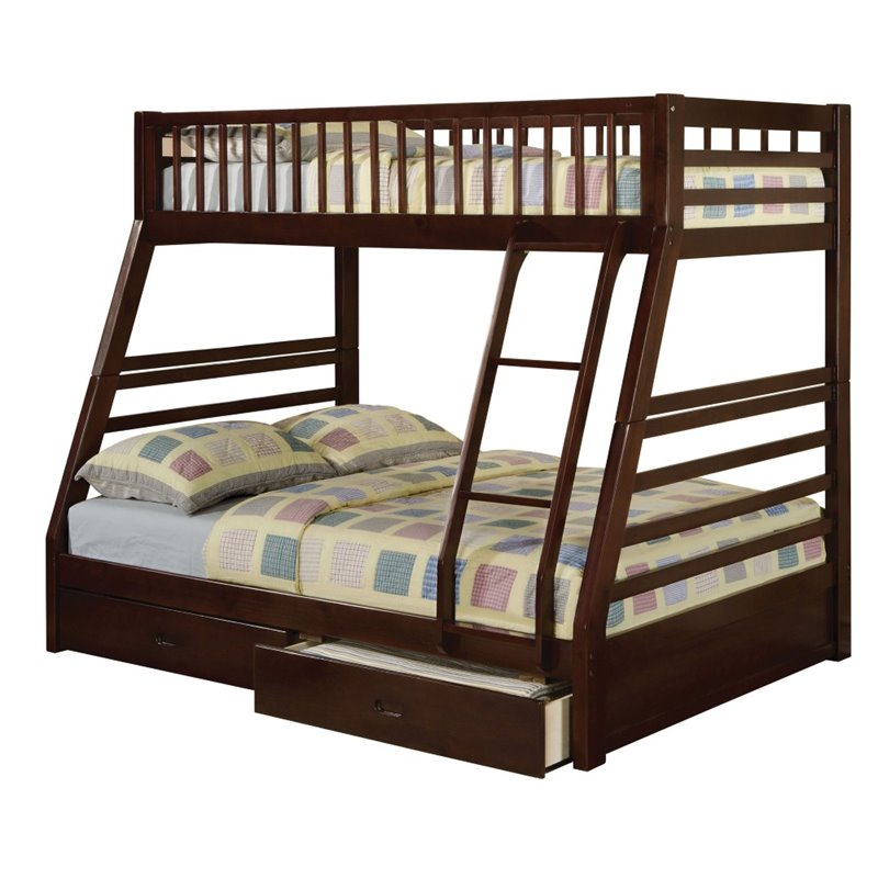 Bowery Hill Twin over Full Storage Bunk Bed in Espresso