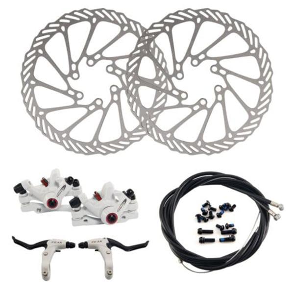 G3 Mechanical Bike Disc Brake Front Brake Rear Brake Rotor Set MTB (Black)