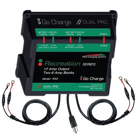 Dual Pro Recreat Series Dual Output Charger 2 6 Amp Bank Rs2